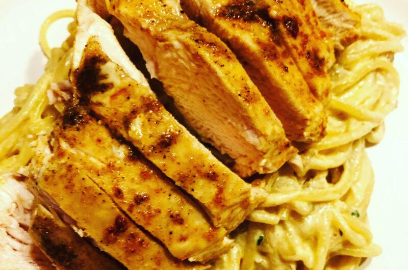 Hähnchenbrust mit Parmesanspaghetti