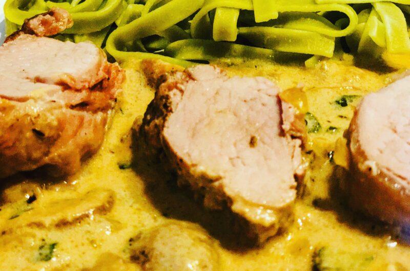 Schweinefilet in Champignonrahmsauce