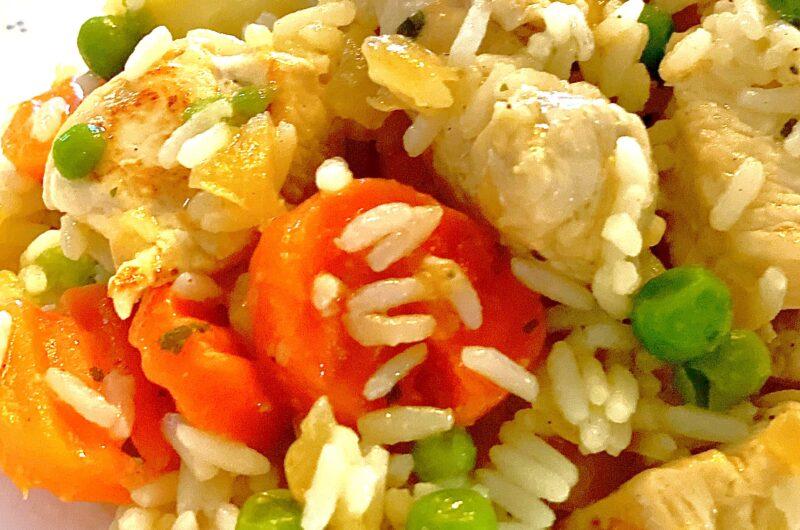 Reispfanne mit Buttergemüse